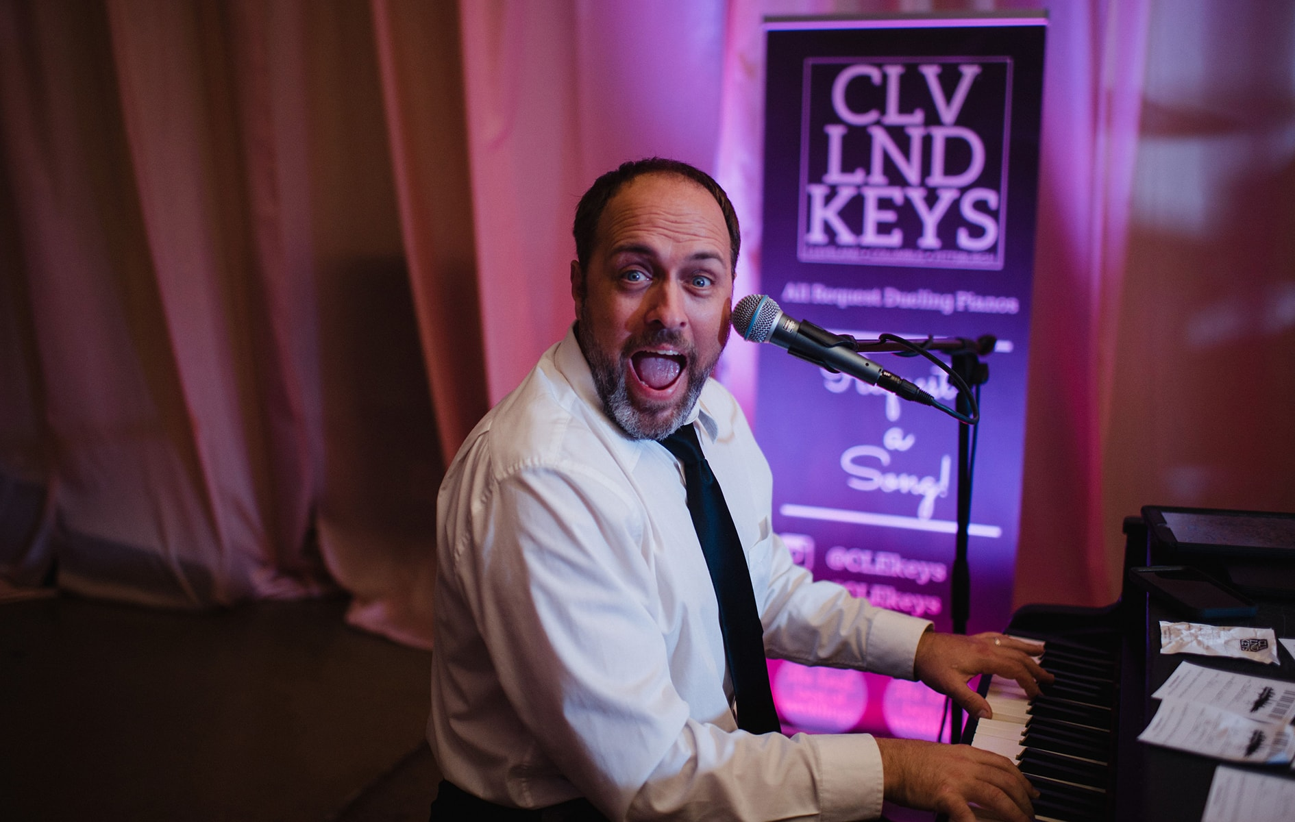 cleveland keys pianist performing at wedding