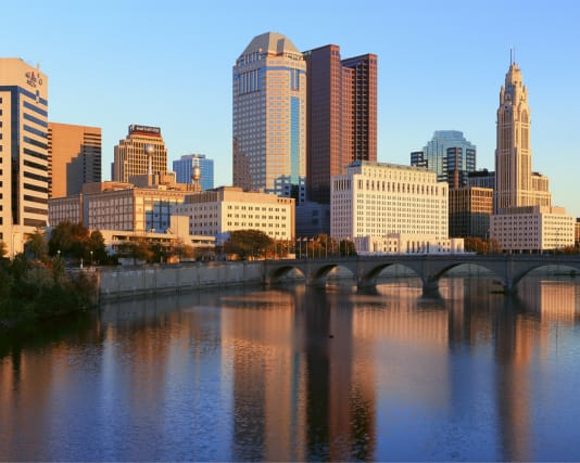 skyline of downtown Columbus
